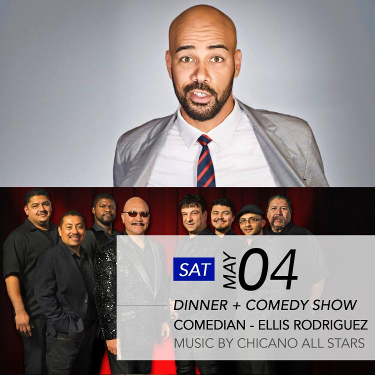 Chicano All Stars with Comedian Ellis Rodriguez