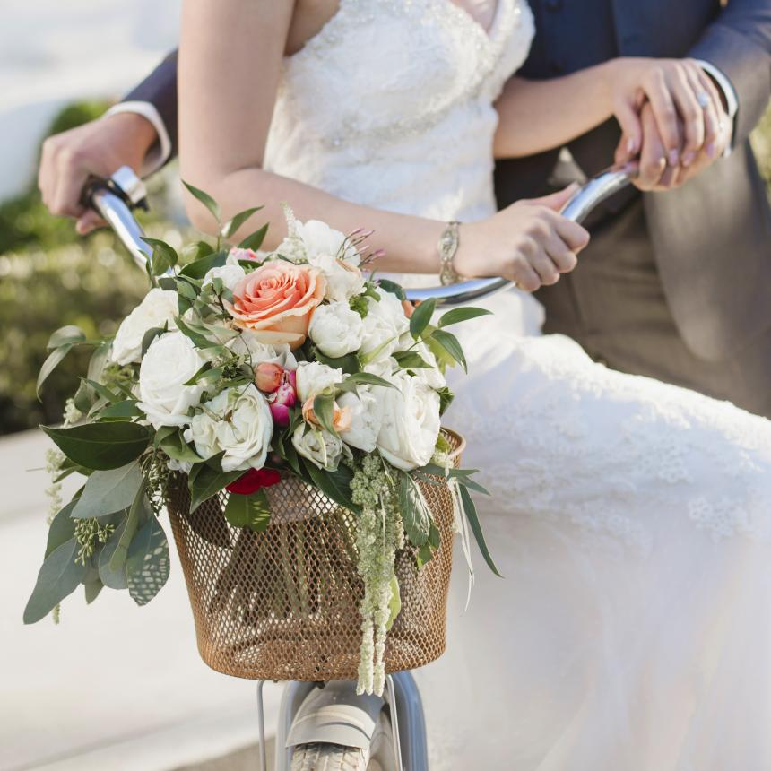 Bouquet in Bicycle