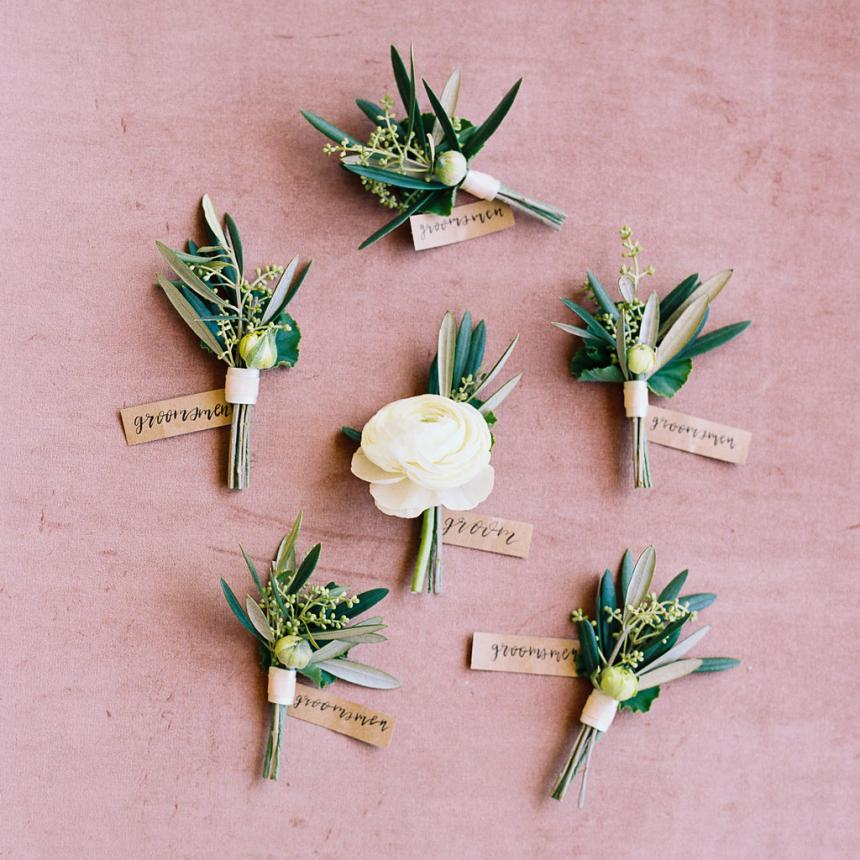 Boutonnieres with Greenery