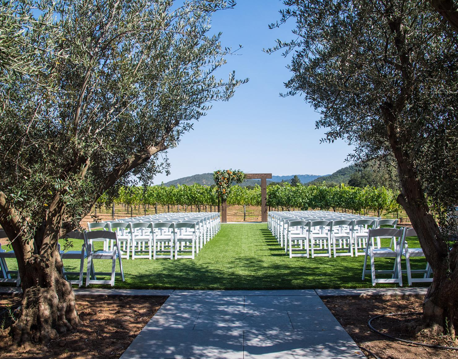 Wedding Ceremony Arch at Sycamore Creek